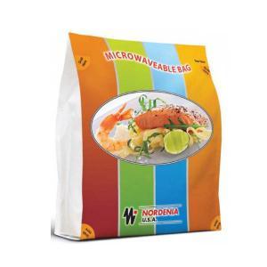 China Laminated Squrae Bottom Food Vacuum Sealer Bags Rainbow  , Gusset Side wholesale