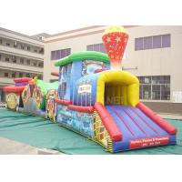 China Challenge Race Inflatable Obstacle Course Train Tunnel Climb Slide wholesale