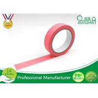 China Office Labeling Adhesive Stickers Easy Tear Decorative Craft Tape Pink / Purple / Red wholesale