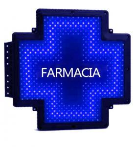 China Farmacia Signage Pharmacy Cross Sign Single Color Green LED Message Sign wholesale