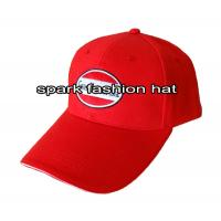 China High quality red baseball cap with plain embroidery logo wholesale