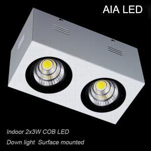 China IP42 white aluminium double COB 6W led down light&LED Grille light wholesale