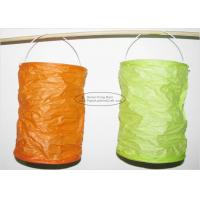 China Spring Lampion Paper Lanterns Craft , Outdoor Hanging Paper Candle Lanterns 10 X 15 Cm wholesale