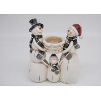 China Winter Season Polyresin Crafts Christmas Figurines Decorations Candle Holder on sale