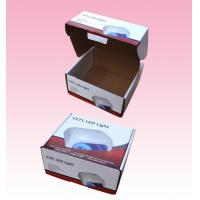 China custom F-flute corrugated Cardboard Packaging Boxes with Locking Lid for LED Light wholesale