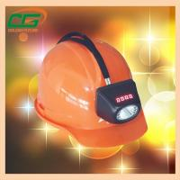 China Atex Approval Digital And Cordless Cree Mining Hard Hat LED Lights , Miner Helmet Light wholesale