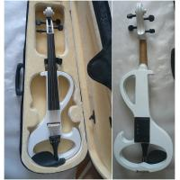 China White Melodie Solid Basswood Electric Violins Full Size Junior Student Violin wholesale