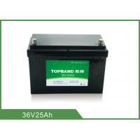 China Long Cycle Battery 36V 25AH Rechargeable Lithium Ion Battery wholesale