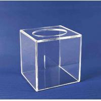Quality Acrylic Storage Boxe , Clear Acrylic Suggestion Box 5mm x 150mm x150mm for sale