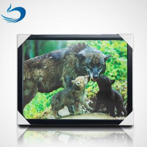 China Custom Bear Design 3D Lenticular Picture , 3D Flip Picture Decration wholesale
