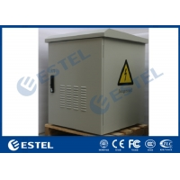 China Custom Metal Wall mount Waterproof Outdoor Telecom Cabinet Outdoor Enclosure With Cooling wholesale