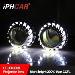 China IPHCAR Hot Wheel Cree Chip Led Angel Eye Hid bi xenon car Lighting Automotive Headlight Led DRL on sale