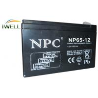 China Long Life Deep Cycle Battery 12V 65Ah for Fire Alarm / Security System wholesale