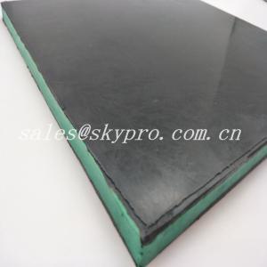 Buy cheap Wear - Resisting 30mm Black + Green + Black Sandwich Skirting Rubber Sheet Panel from wholesalers