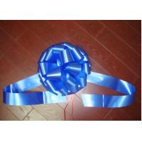 China Windshield Pom Pom Bow ribbon for wedding car , large gift loop bows for ceremony wholesale