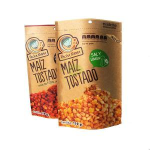 China 120 Gram Snack Bag Packaging Cashnew Nut Kraft Paper Bag With Zipper Food Paper Bag wholesale