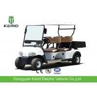 China Multipurpose 4 Passenger Club Car Electric Golf Buggy With Rear PP Plastic Cargo Box on sale