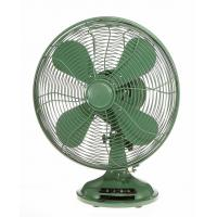 China Green Industrial 10 Inch Retro Table Fan 3 Speed Rotary Switch Air Cooling on sale