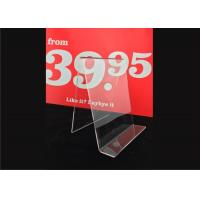 China Custom Clear Acrylic Sign Holder , Acrylic Menu Poster Holders For Display wholesale