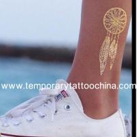 China New Fashionable 2015 Sexy Temporary Flash Metallic Gold Foil Tattoo Sticker on sale