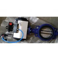 China DN40 - DN1800 Cast Steel Butterfly Valve / Pneumatic Butterfly Valve For Sewage wholesale