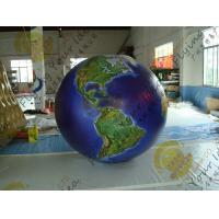 China Waterproof Earth Balloons Globe , Large Inflatable Advertising Balloons wholesale
