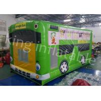 China Jungle Bus Shape Inflatable Jumping Castle Indoor and  Outdoor Playground wholesale