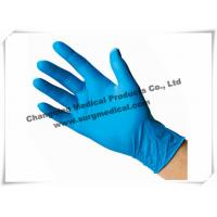 China 4 Mil Nitrile Medical Examination Gloves Blue Powder Free Food Grade wholesale