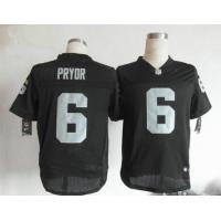 China Nike NFL Oakland Raiders 6 Terrell Pryor black elite jersey wholesale