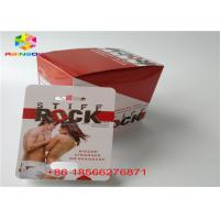 China Sex Pill Blister Card Packa 3D Display Box CMYK Printing Recycled With Double Hole wholesale