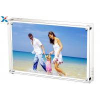 China 5*7'' Magnetic Acrylic Photo Frame Silk Screen Printing With Single / Double Sided wholesale