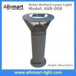 China Aluminum H60cm Solar  Bollard LED Lighting Parking-Lot Bicycle Path Solar Garden Lawn Lights Solar Sensor Lights wholesale