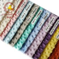 China 360gsm top quality various color minky dot fabric wholesale on sale