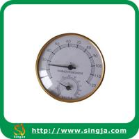 Buy cheap Metallic edge hygrothermograph for sauna room from wholesalers