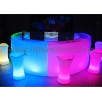 China Illuminated LED lighted table bar counter with LED lighting and remote for events planner and party wholesale