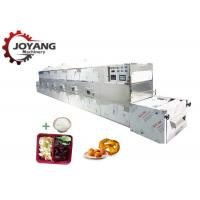 China Healthy 60 KW Microwave Fast Food Heating Equipment Work Meals Reheating Machine wholesale
