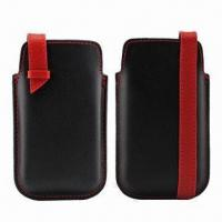 China Smartphone Pouches with Optional Embossed and Color Print Logo, Various Colors and Styles Available wholesale