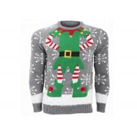 China Mens Novelty Elf Ugly Christmas Sweater Standard Wool Soft And Warm Hand Feeling wholesale