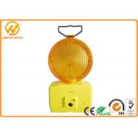 China 1000M Visible Amber Emergency Flashing LED Traffic Warning Lights with Two 4R25 Battery 185 * 95 * 340 mm wholesale