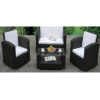 China 4pcs steel rattan sofa set wholesale
