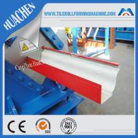 China Hydraulic gutter roll forming machine , ISO Steel rollform equipment Customization color wholesale
