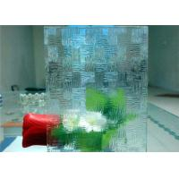 China Economical Decorative Patterned Glass / Figured Glass With 3mm - 8mm Thickness wholesale