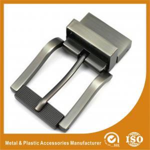 China Pear Gunmetal Metal Reversible Belt Buckle Personalized Belt Buckles For Men wholesale