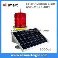China 2000cd Red Solar Obstruction Light Aviation Warning Lamp with Solar Panel for Communication Lattice Tower High Building wholesale