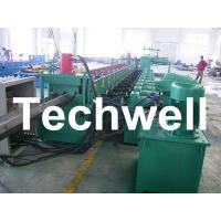 China 7 Rollers Leveling 10 - 12m/min W Beam Roll Forming Machine for Crash Barrier wholesale