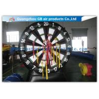 China Giant Inflatable Sports Games Target Shoot / Inflatable Dart Board with Fastener Darts wholesale