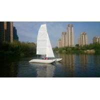 China Inflatable Sailing Kayak With Two Sails , Portable Inflatable Catamaran Sailboat wholesale