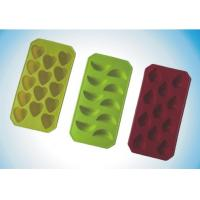 China Customized Flexible Silicone Molds Ice Tray for Tear Strength 28.5 KN / m wholesale