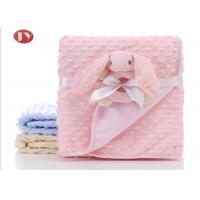China 75X100cm Breathable Thick Toddler Blanket , Toy Baby Blanket Minky Dot Velboa Hand Bell on sale