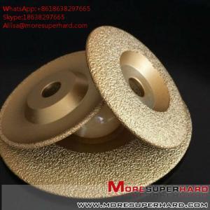 China Vacuum Brazed Diamond Grinding Disc for marble and granite  Alisa@moresuperhard.com wholesale